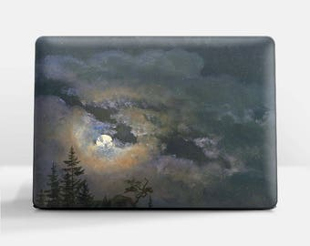 "Laptop skin (Custom size). Johan Dahl, ""A Cloud and Landscape Study by Moonlight"". Laptop cover, HP, Lenovo, Dell, Sony, Asus, Samsung etc."