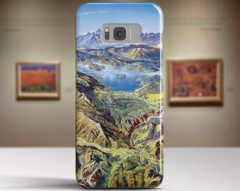 "Heinrich Berann, ""Yellowstone National Park"".Samsung Galaxy S7 Case LG G6 case Huawei P10 Case Galaxy J5 2017 Case and more."