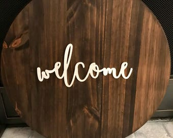 Decorative round- welcome