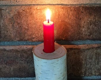 Birch Candle Stick Holder