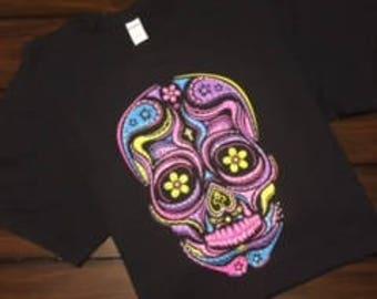 Sugar Skull T-shirt with Rhinestones 2