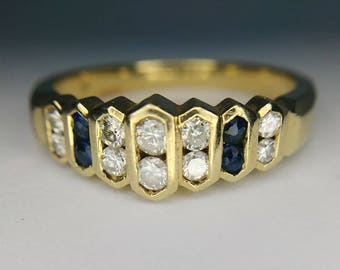 14k Gold Diamond Estate Ring Size 6 1/4
