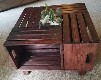 Hand Crafted Wine Crate Coffee Table