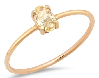 CANARY ISLAND Yellow Diamond + 14k Yellow Gold Ring