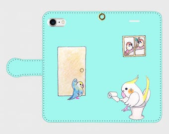 Parakeets who need toilet   /   iphone case