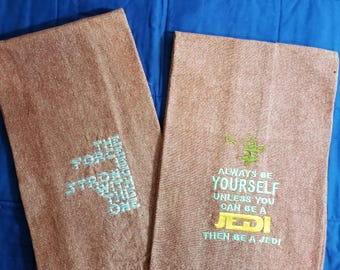 Embroidered Kitchen Towel Set Star Wars Inspired