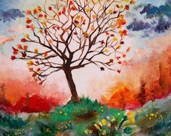 Art Print- Dewy Tree