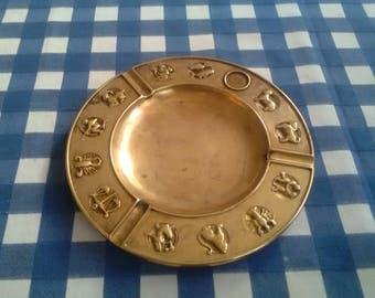 Vintage Ashtray with the zodiac