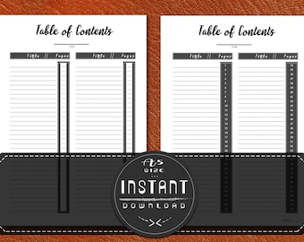 Table of Content A5