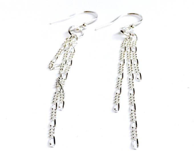 Triple Chain Drop Earrings