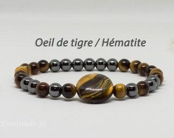Hematite bracelet / Tiger eye