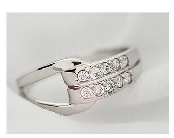 Ring set with zirconium CZ and Silver 925/1000