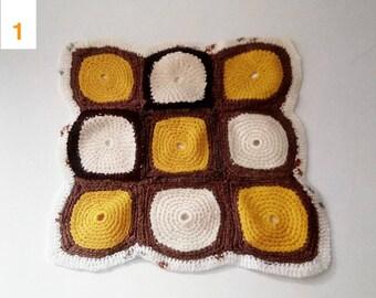 Small vintage 1970s crochet doily