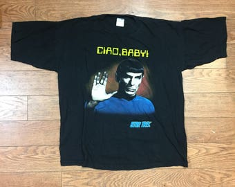 """90's Spock """"Ciao, Baby!"""" T Shirt"""