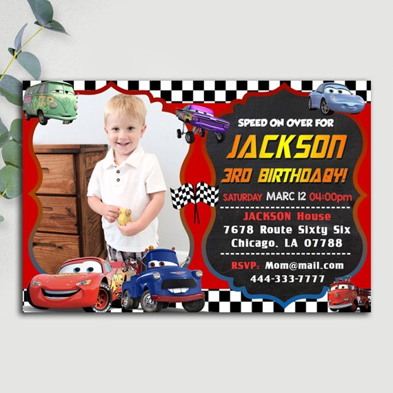 Disney Cars Birthday Invitation Disney Cars Invitation – Disney Cars Birthday Invites