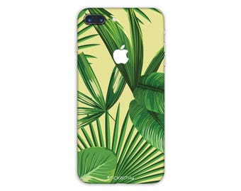 green leafs flower iPhone Skin flower iPhone Sticker Case leafs iPhone Decal art iPhone 7  plus iPhone 6 iPhone 6s 6 plus 5 5s SE PS033