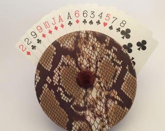 Faux Snakeskin Cardwheel