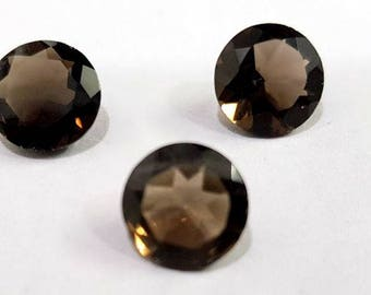 Natural Smokey Quartz Gemstone Cutting Round 3 Pcs Sets 9.10 Cts. Size 10 X 10 X 6.5 MGJ96