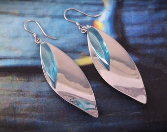 Very Rear And Gorgeous With Beautiful tree leaves Style 92.5 Sterling Silver Earrings 6.86 Gms.. length 7.00 CM. Code MGJ 82