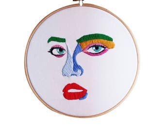20% out! Face Embroidery (1)