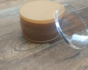 Clear Acrylic Blank 3inch Diameter Circle 1/4inch thick.  Apply vinyl, paint or magnets.  What will you create with them?