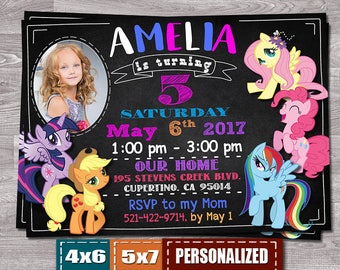 My Little Pony Invitation, My Little Pony Invite, My Little Pony Bithday Invitation, My Little Pony Birthday, My Little Pony Party, Pony