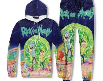 Rick Morty Pants Suit Crewneck Gravity Sweatshirt Anime Nick Shirt Winter Summer Top Tees Hoodie Unisex Sweatshirt Men Women Gift 2017