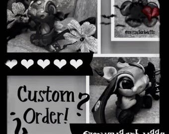 custom sugarbuggbats  & faerie dust dragons 40 DOLLAR 'NONREFUNDABLE' DEPOSIT polymer clay collectibles