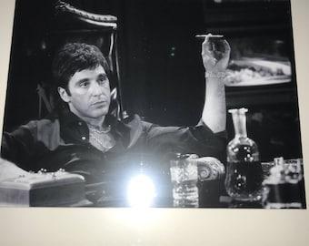 Vintage Black Framed Scarface Print, hiphopart, GiftsForHim, Tony Montana