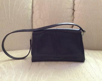 Liz Claiborne Navy Blue Faux Leather Shoulder Bag