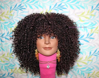 "READY TO SHIP //Synthetic crochet wig ""950 curly curls"""