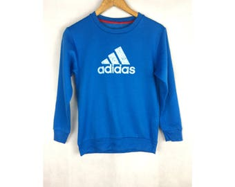 ADIDAS Small Size Sweatshirt with Big Spell Out Logo Big Logo
