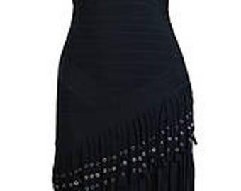 Black Bodycon Fringe Dress