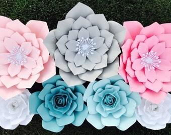 7pc paper flower set