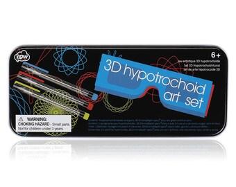 3D Hypotrochoid Spirals Art Set