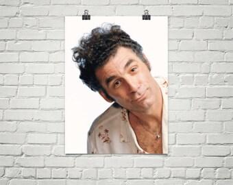 Kramer Poster - Seinfeld Poster- 90's Tv Poster - Larry David - Jerry Seinfeld - Premium Semi-Gloss Photo Paper Poster