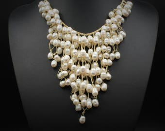 Multi-Strand Fresh Water Pearl Necklace
