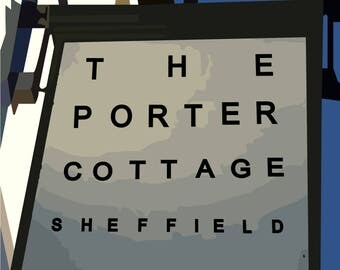 A3 PRINT Porter Cottage