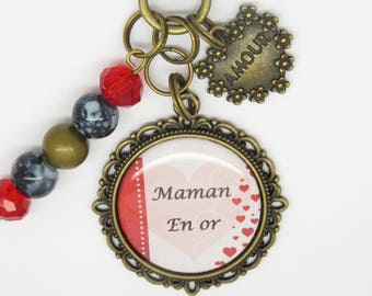 KEYCHAIN personalized gift for MOM, a godmother, friend, mother gift idea for