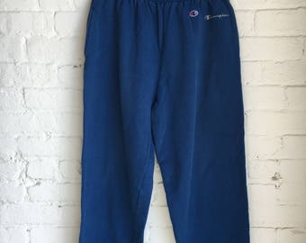 Vintage Champion Embroidered Logo Pocketed Sweatpants / Size XL / 90s 1990s / Sportswear