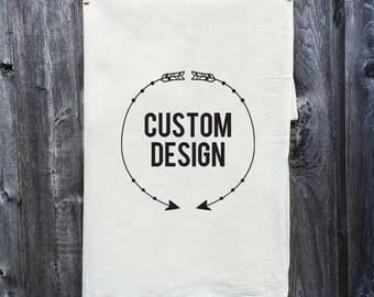 Dish Towel / Tea Towel / Monogram / Kitchen Decor / Housewarming Gift / Custom / Personalization / Flour Sack Towel / Personalized / Wine