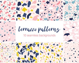 Seamless Terrazzo Patterns Digital Papers