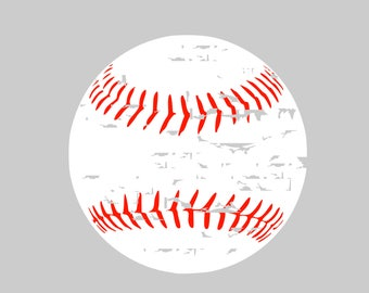 Distressed Baseball svg Baseball svg Softball svg Baseball Mom svg svg files for Cricut svg Silhouette svg dxf png eps