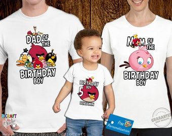 Angry Bird Birthday Shirt ,Custom personalized shirts for all family,Angry Bird T shirts