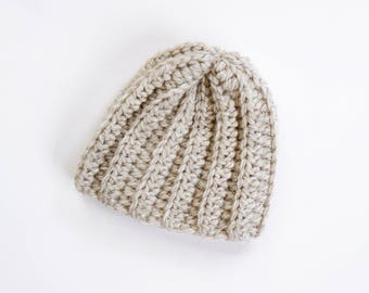 LITTLE REX BEANIE | modern chunky ribbed beanie for newborns, baby, toddlers and children