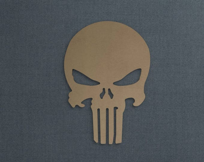Featured listing image: Punisher Logo, Wood Cutout, Unfinished Sign