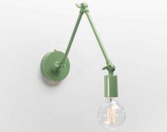 Adjustable Retro Wall Sconce | Green | Retro | Loft | Industrial | Minimalist | Lamp