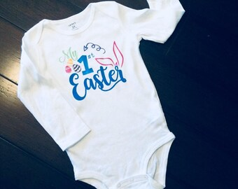 First easter shirt, bodysuit, first, easter, my first easter
