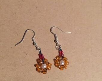 Handmade Cluster Flower Earrings