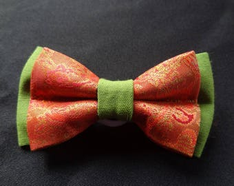 Bow tie orange and green